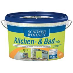 SCHÖNER WOHNEN FARBE Feuchtraumfarbe Küche/Badfarbe, fresh, 2,5 l grün
