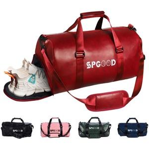 SPGOOD Sporttasche Handgepäck Wasserdicht 20L Reisetasche mit Schuhfach und Schultergurt für Übernachtung Reisen Sport Gym Urlaub Taschen Trainingstasche Fitnesstasche Gym-Tasche (42*20*23cm, Rot)