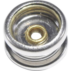TRU COMPONENTS DR-INF-SS-10 ESD-Druckknopf-Adapter Druckknopfsockel 10 mm, Druckknopfsockel 10mm