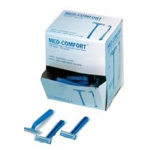 Med-Comfort® Einmalrasierer mit Klingenschutz, Einwegrasierer mit einschneidiger Klinge, 1 Box = 100 Stück