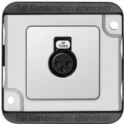 Merten Lautsprecher-Steckdose Panzer Silber (matt) 460860