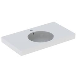 Geberit Waschtisch II PRECIOSA 900 x 500 mm, mit Ablagefläche, Hahnloch und Überlauf weiß