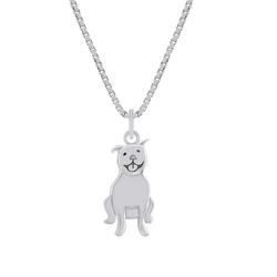 Silberkette in Form eines Pitbulls