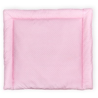 KraftKids Wickelauflage weiße Punkte auf Rosa, extra Weich (500 g/qm), mit antiallergenem Vlies gefüllt 85 cm x 75 cm