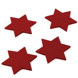 4 Filz Untersetzer Sterne Glasuntersetzer Weihnachtsdeko Adventsdeko- rot