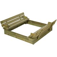 Plus Sandkasten mit Deckel/Sitzbank/Lehne (18003-1)