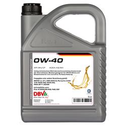 Motoröl DBV synthetisch 0W-40 5 Liter