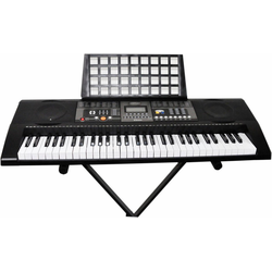 Clifton Keyboard 61-Tasten Keyboard mit LC-Display, (Set), mit Ständer