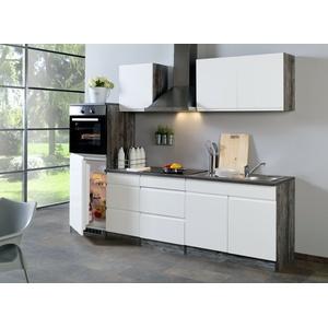 Küchenzeile Mit Elektrogeräten Küche Mit Geräten Einbauküche Hochglanz Weiss