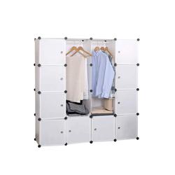 Woltu Kleiderschrank Kleiderschrank DIY Regal Mit 2 Kleiderstange SR0101ws