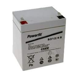 Exide Powerfit S312/4S Blei Akku, Anschluss 4,8mm