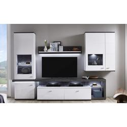 Ideal-Möbel Wohnwand Karajol in weiß