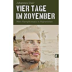Vier Tage im November. Johannes Clair  - Buch