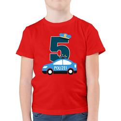 Shirtracer T-Shirt Polizei Geburtstag 5 - Geburtstag Kind - Jungen Kinder T-Shirt - T-Shirts tortendeko polizei 116 (5/6 Jahre)