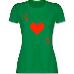Shirtracer T-Shirt King Kartenspiel Karneval Kostüm - Karneval & Fasching - Damen Premium T-Shirt - T-Shirts fasching kartenspiel XL