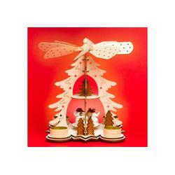 SIKORA Weihnachtspyramide SIKORA P27 Teelicht Holz Weihnachtspyramide mit Engeln H:26cm