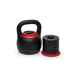 KLARFIT Kettlebell Adjustabell Verstellbare Kettlebell Gewicht:8/10/12/14/16 kg Gusseisen schwarz/rot, 16 kg