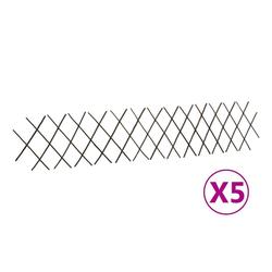 vidaXL Rankgitter vidaXL Weidenzaun-Rankgitter 5 Stk, 180x30 cm braun