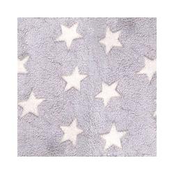 Babydecke HD Fleece-Decke grau-creme Sterne für 3 & 5 Punkt-, Hoppediz
