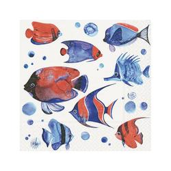 Paper+Design Papierserviette Tropenfische, (20 St), 33 cm x 33 cm