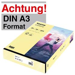 tecno Kopierpapier colors hellgelb DIN A3 80 g/qm 500 Blatt