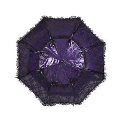 von Lilienfeld Stockregenschirm Hochzeitsschirm melissa, Spitze lila