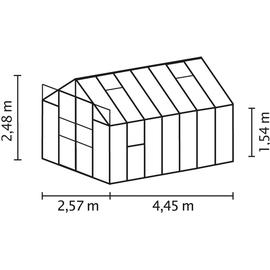Vitavia Jupiter 11500 Alu schwarz ESG 3 mm 11,5 m²