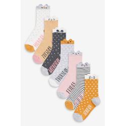 Next Socken Socken mit Wochentags-Designs, 7er-Pack (7-Paar) 20,5-24