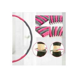 ShopAG.com Hula-Hoop-Reifen Hoola Hoop Reifen 8 teilig grau/pink-Fitness, Sport, Abnehmen (8-tlg)