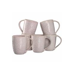 LEONARDO Becher MATERA Keramikbecher 330 ml rosa 6er Set (6-tlg)