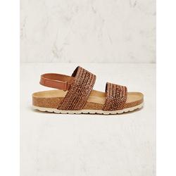 Deerberg Damen Stoff-Sandalen Gustel braun sandaletten