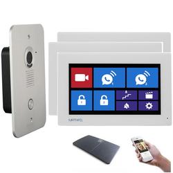 4 Draht Türsprechanlage Gegensprechanlage mit WLAN und drei 7 Zoll Monitore