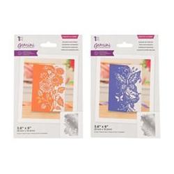 CRAFTER`S COMPANION Schablonen-Set Stanzschablonen Kartengestaltung 2tlg.