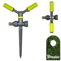 2-Arm Kreisregner mit Erdspieß Sprinkler Bewässerung Rasensprenger LIME LINE LE-6106 BRADAS 4475