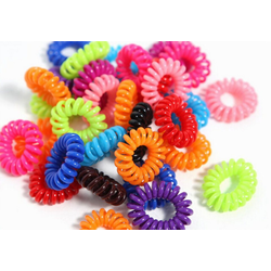 MyBeautyworld24 Spiral-Haargummi Haargummi im Telefonkabel Design (Kunststoff-Spirale) im 10er Set