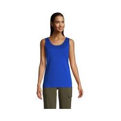 Top, Damen, Größe: L Normal, Blau, Baumwolle, by Lands' End, Classic Kobaltblau - L - Classic Kobaltblau