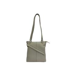 Cinino Handtasche Emily, Taschenrucksack Schultertasche Ledertasche Lederrucksack grau