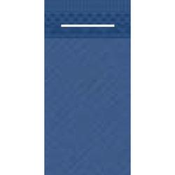 Mank UNI Pocket-Napkins Besteckservierttentasche, 40 x 40 cm, 1/8 Falz, 4-lagig, Farbe: blau, 1 Karton = 4 x 75 Stück = 300 Serviettentaschen