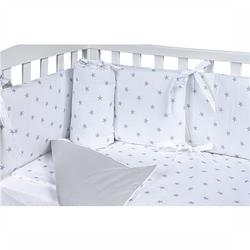 Bettwäscheset für Kinderbett Picci Lella Stelle Grey