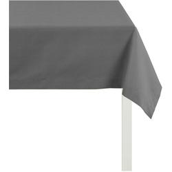 APELT Tischdecke 4362 Rips - UNI (1-tlg) grau quadratisch - 100 cm x 100 cm