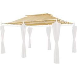 Grasekamp Ersatzdach zu Garten-Pavillon Inca 3x4  Beige Party-Zelt Terrassen-Dach