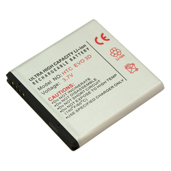 Akku für HTC EVO 3D, Sensation XE, Radar, wie BA S560, BA S590, BA S640, BA S...
