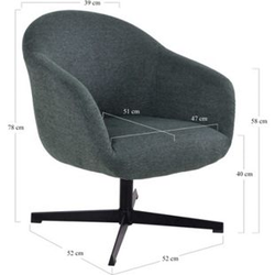 Syrano Drehsessel Sessel grau Esszimmer Wohnzimmer Clubsessel Cocktailsessel