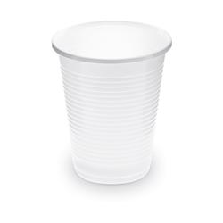 Trinkbecher Getränkebecher weiß 150 ml PP, Ø 70 mm, 100 Stk.