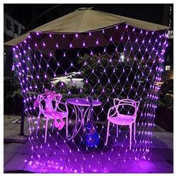 TOPMELON Lichterkette, LED Net Mesh Lichterkette, Wasserdicht, 4 Größen,Weihnachtsdekoration rosa 1.5 cm x 1.5 m