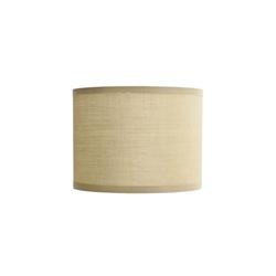 Licht-Erlebnisse Lampenschirm GING Stoff Lampenschirm Zylinder Creme E14 Tischleuchte Lampe