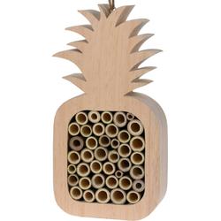 Insektenhotel ANANAS mit Bambusröhrchen für Wildbienen Bienen - 15,5x6x30 cm