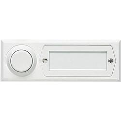Grothe 51013 Klingeltaster mit Namensschild 1fach Weiß 12 V/1,5A