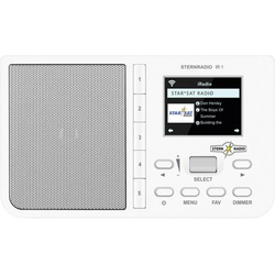 TechniSat STERNRADIO IR 1 Internet Tischradio Internet AUX, Internetradio, WLAN Weiß