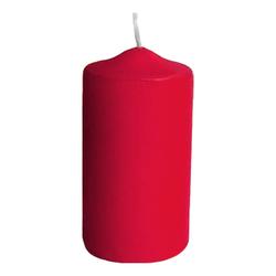 Stumpenkerzen Ø 50 x 100 mm, 15 Stunden Brenndauer, rot, 4 Stk.